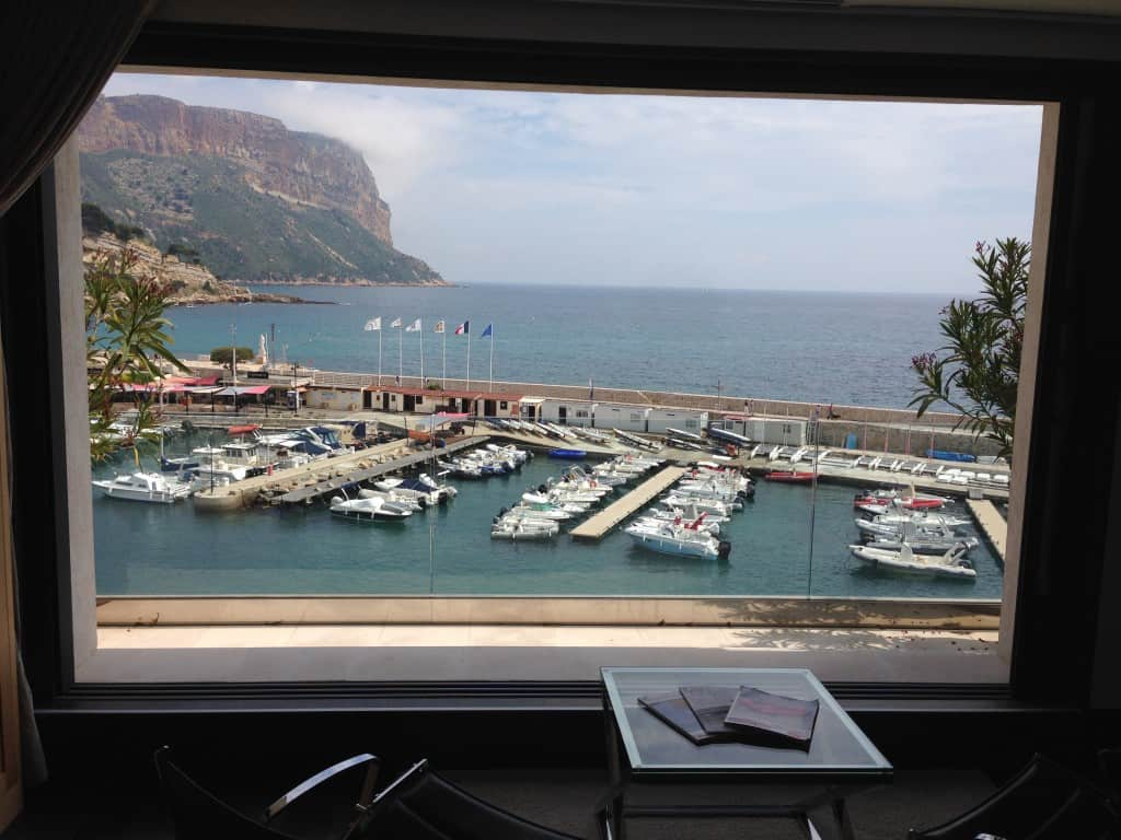 View from the Villa Meduse of the port in Cassis