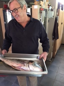 Pierre Hugo with our Daurade for lunch