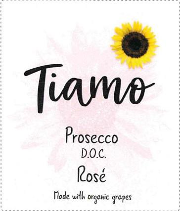 Tiamo Prosecco Rose Label