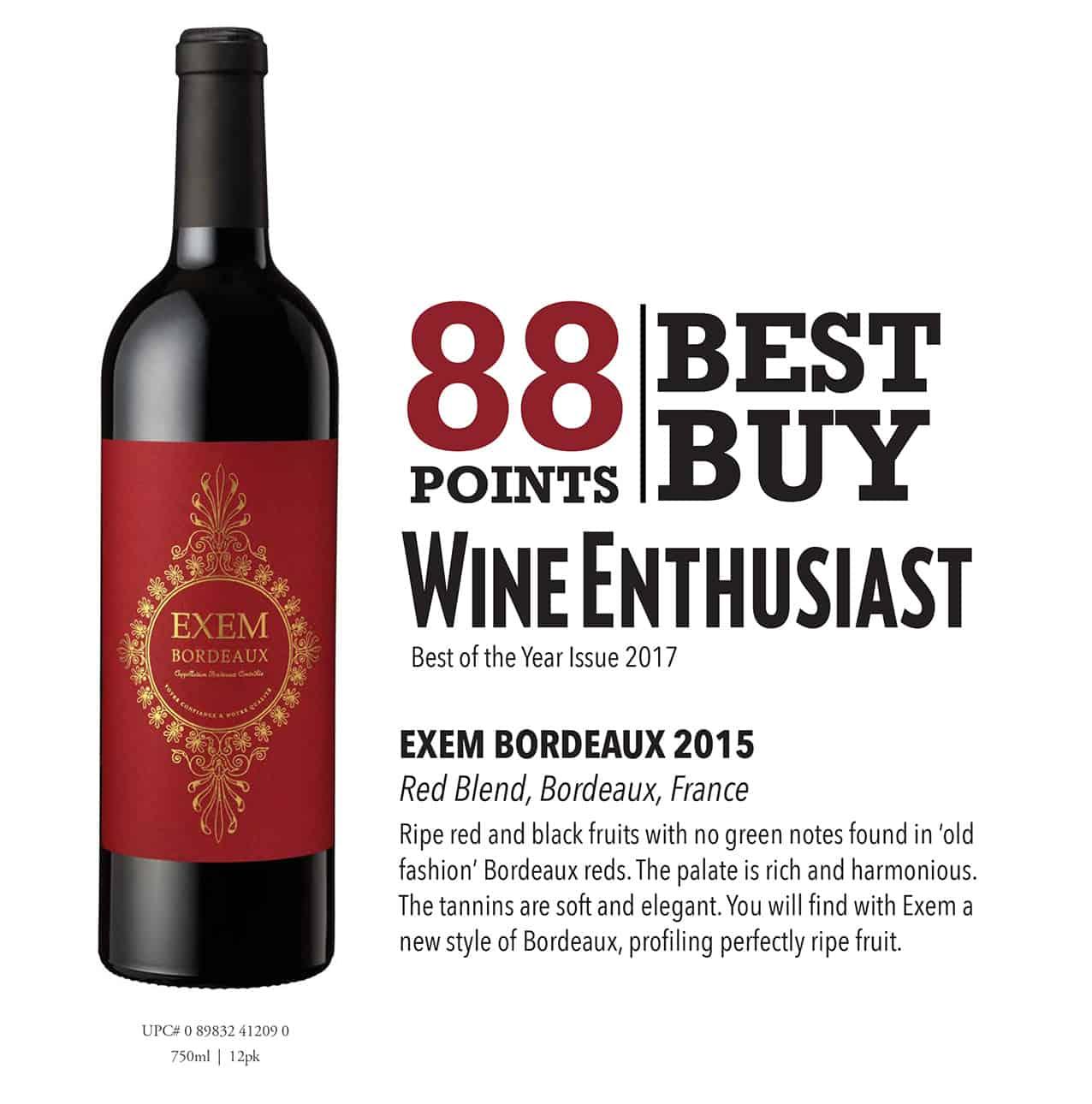 Exem Bordeaux Uncomplicated Bordeaux Master Wines